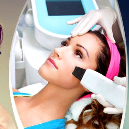 Celkové ošetření pleti značkovou BIO kosmetikou s ultrazvukovou špachtlí a galvanickou žehličkou