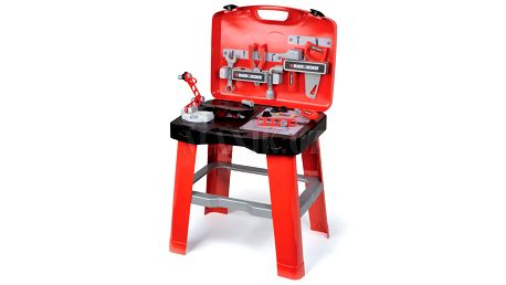 Dílna pracovní stůl v kufříku Black & Decker Smoby