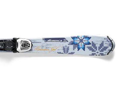 Juniorské sjezdové lyže Nordica Cinnamon Girl J Fastrak M 4.5 Fastrak