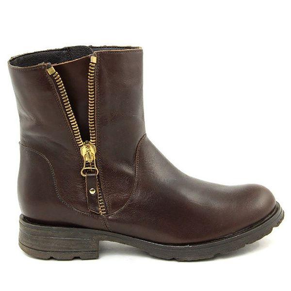 Dámské tmavě hnědé kotníčkové boty Giorgio Picino