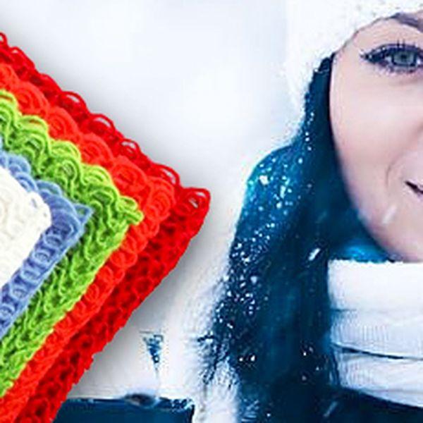 Příjemná pletená barevná šála perfektně doplní jakýkoliv outfit, na výběr z 9 barev!