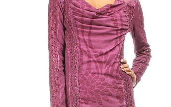 Dámské růžovofialové triko s dlouhým rukávem Angels Never Die