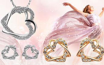 Luxusní set šperků, zlatý nebo stříbrný