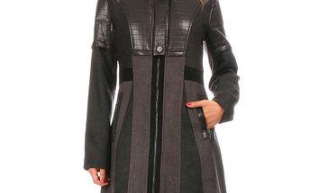 Dámský krátký kabát s vysokým límcem Angels Never Die