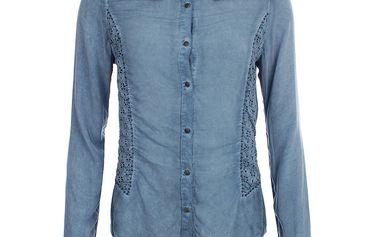 Dámská indigově modrá košile s perforací Angels Never Die
