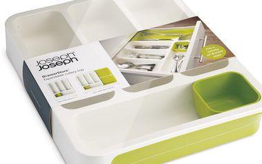 Přihrádky na příbory Drawer Store Cutlery, bílé/zelené