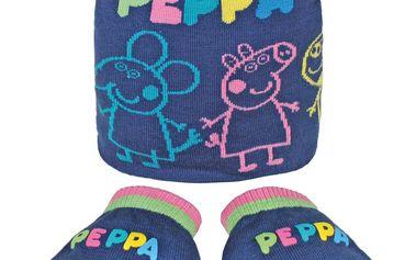 Set Pepina a přátelé-čepice+rukavice