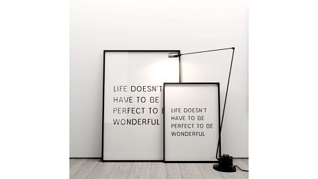 Plakát Life doesn´t have to be perfect to be wonderful, 50x70 cm