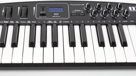 USB/MIDI klaviatura Miditech i2 Control-25 BK