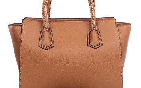 Dámská hnědá kabelka s ozdobnými poutky London Fashion