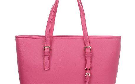 Dámská růžová kabelka s přívěskem London fashion