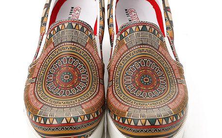 Dámské vzorované loafers na platformě Elite Goby