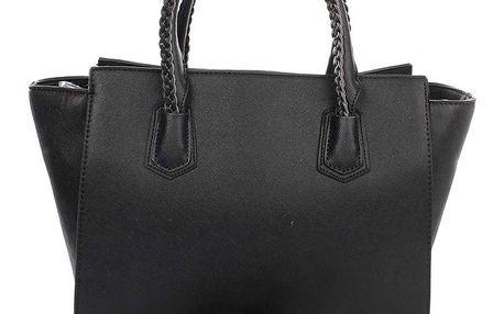Dámská černá kabelka s ozdobnými poutky London Fashion