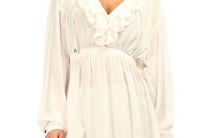 Dámská bílá tunika s ozdobným výstřihem Angels Never Die