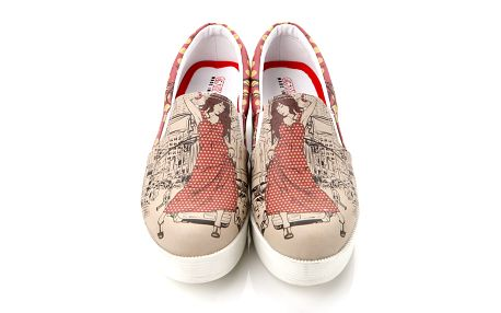 Dámské loafers s městským motivem na platformě Elite Goby