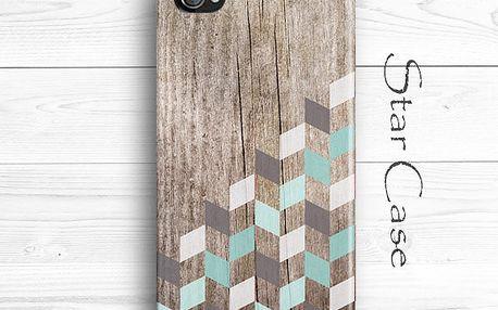 Obal na iPhone 4/4S Wood Herringbone Mint