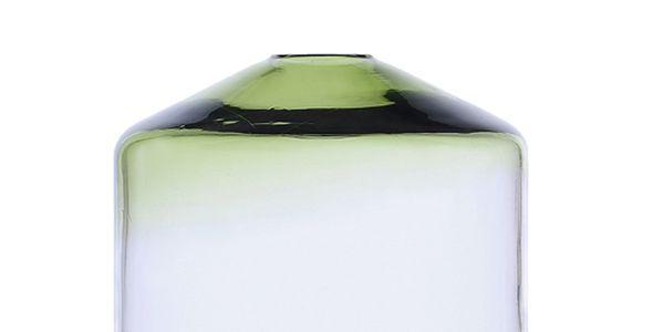 Skleněná váza Islanda Green/Clear, 16 cm