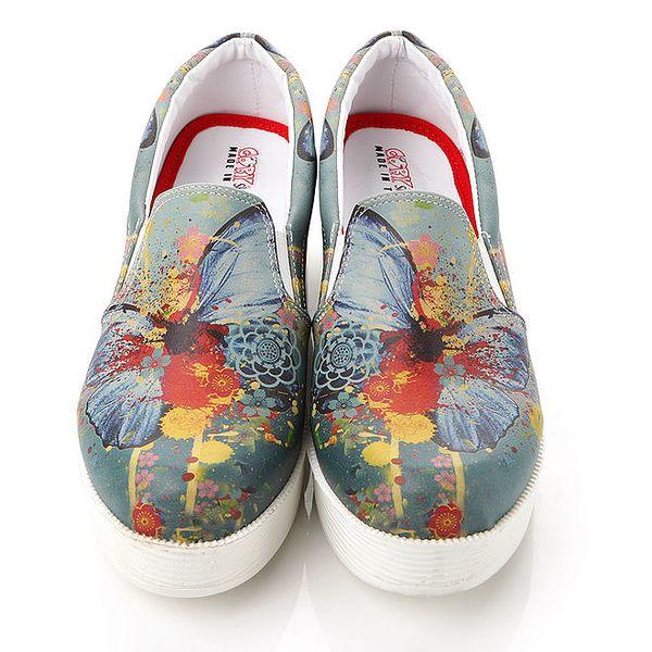 Dámské vícebarevné loafers na platformě Elite Goby