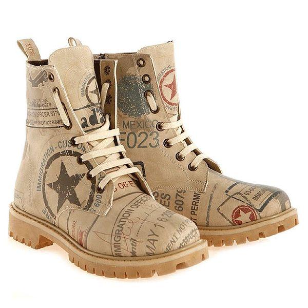 Dámské kotníkové boty se stylovým potiskem Elite Goby