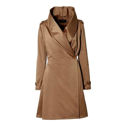 Dámský kabát s šálovým límcem
