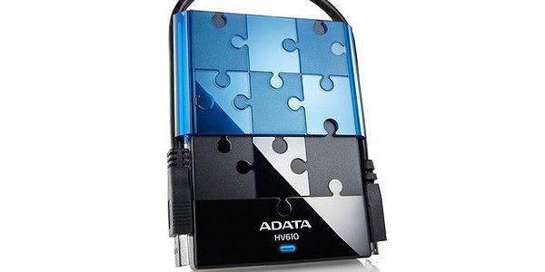 """ADATA Externí HDD 1TB 2,5"""" USB 3.0 DashDrive HV610, černý"""