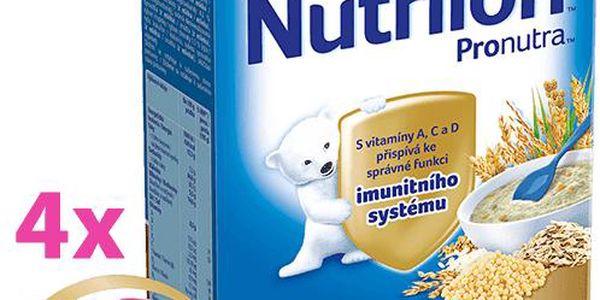 4x Nutrilon vícezrnná s rýžovými křupinkami (225 g) - mléčná kaše