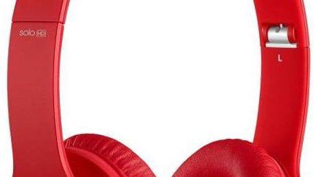 Sluchátka Beats Solo® HD Monochromatic červená barva