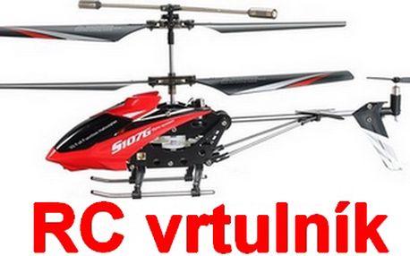 Skvělý 3-kanálový RC vrtulník na vysílačku s gyroskopem. Vrtulník je velmi stabilní a vhodný pro začátečníky. Skvělý dárek pro děti i jejich tatínky:-)