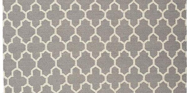 Vlněný koberec Arifa Light Grey, 160x230 cm