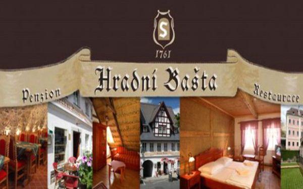 BEČOV na KARLOVARSKU: 3 dny pro 2 se středověkou hostinou v penzionu Hradní Bašta až do 30.6.