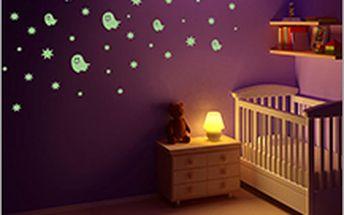 Svítící nálepky na zeď