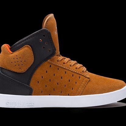 Dětské boty Supra High Atom Brown/Black hnědá / černá