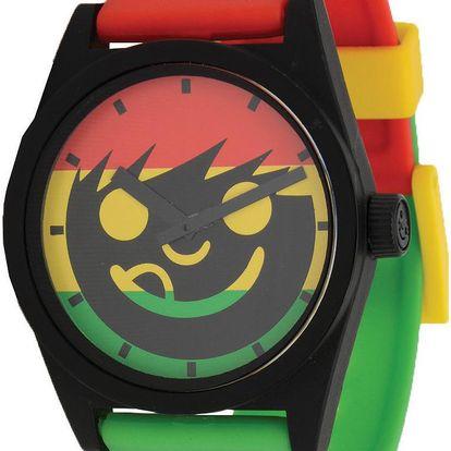 Analogové hodinky s dvěma ručičkami Daily Sucker Watch rasta