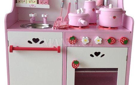 KidsHome Dřevěná kuchyňka s příslušenstvím 60cm