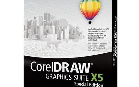 Univerzální software pro tvorbu grafických návrhů Corel DRAW Graphics Suite X5 Special Edition Mini-Box CZ