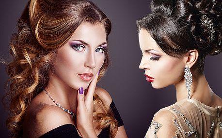 Společenský trendy účes od salonu Visage