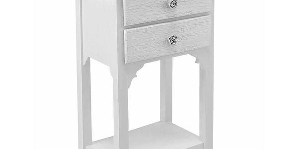 Odkládací stolek Blanc, 37x26,5x69,5 cm
