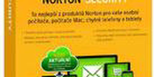 Vylepšená verze antivirového programu Symantec Norton Security 2.0 CZ 1 uživatel, 5 zařízení, 1 rok