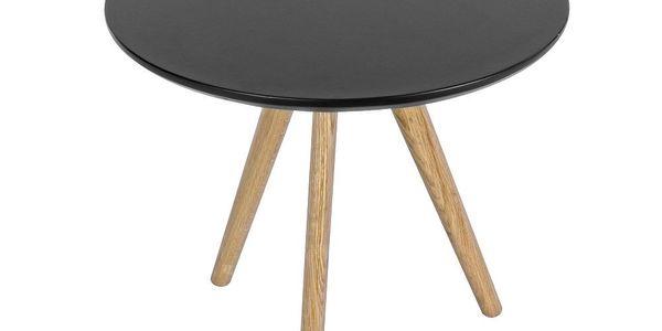 Stolek Luxembourg Black, 50x50 cm