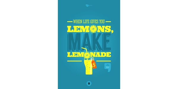 Plakát When life gives you lemons, make lemonade, 70x50 cm
