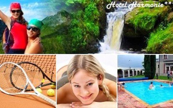 Užijte si osvěžující 3denní pobyt pro 2 osoby. Bazén, sauna, tenis a masáž.Relax v Železných horách.