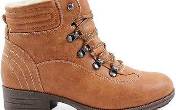 Kotníčkové boty kompletně zatepleny kožíškem