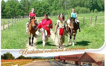 Last minute! Rodinný agropobyt na koňské farmě s programem pro děti a relaxací! ubytování na 2 noci pro 2 dospělé +1 dítě, polopenze pro všechny, 1x lahev vína, 2x masáž, 2 agrohodiny pro dítě s výukou péče o koně, k tomu 1x 30 min na lonži a 1x 30min vý