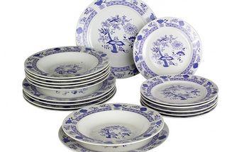 Porcelánová jídelní sada Cibulák 18 ks