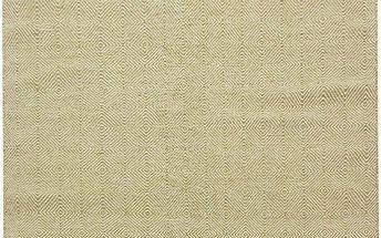 Vlněný koberec Kilim Dimond Olive, 160x230 cm - doprava zdarma!