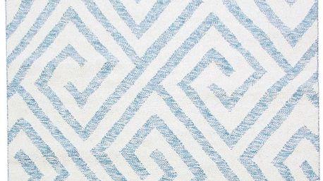 Vlněný koberec Kilim Design 69 Blue/White, 160x230 cm - doprava zdarma!