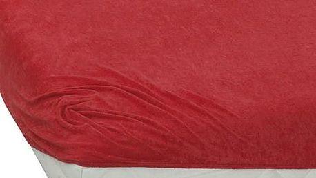 TipTrade BedTex froté prostěradlo červená, 180 x 200 cm