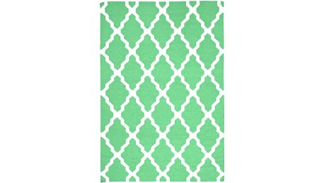 Vlněný koberec Kilim Jasmina Green, 160x230 cm - doprava zdarma!