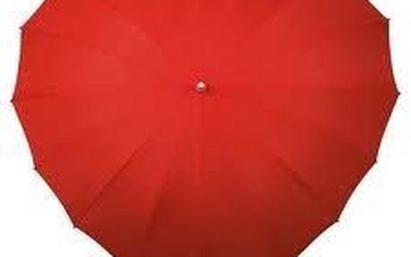 Unikátní kvalitní deštník ve tvaru srdce