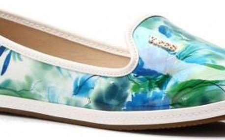 Dámské loafers s originálním potiskem Art 773 zelené